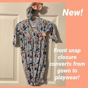 New Mud Pie convertible fall floral gown and Hat